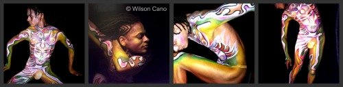 Wilson Cano's body painting on Henry