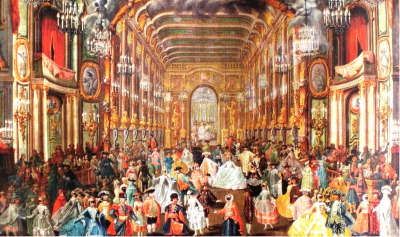 Court dance in an European palace
