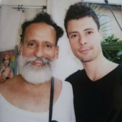 David Zambrano (to the left) and Colombian dancer Federico Zapata, 2014