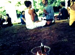 Meditation at workshop with Jessica Walker